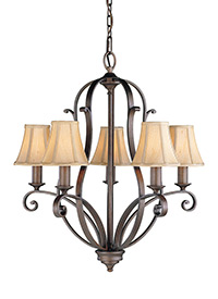 5 - Light Single Tier Chandelier
