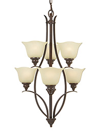 6 - Light Multi-Tier Chandelier