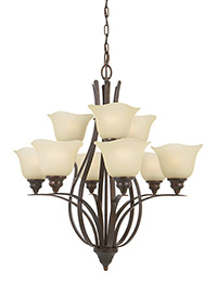 9 - Light Multi-Tier Chandelier