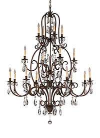 16 - Light Multi-Tier Chandelier