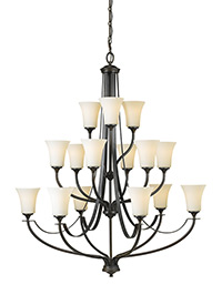 15 - Light Multi-Tier Chandelier