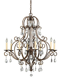 8 - Light Single Tier Chandelier