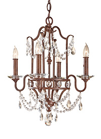 4 - Light Mini Duo Chandelier