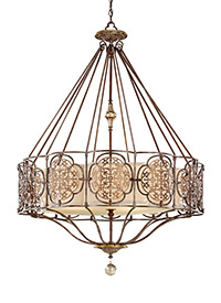4 - Light Uplight Chandelier