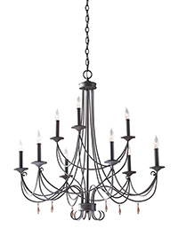9 - Light Two Tier Chandelier