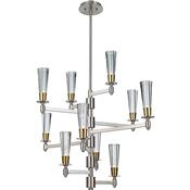 10 - Light Multi Tier Chandelier