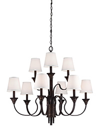 9 - Light Arbor Creek Chandelier