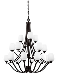 18 - Light Chandelier Heritage Bronze