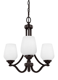 3 - Light Chandelier Heritage Bronze