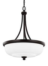 3 - Light Uplight Pendant Heritage Bronze