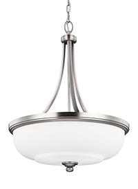 3 - Light Uplight Pendant Satin Nickel
