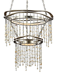 2 - Tier LED Chandelier