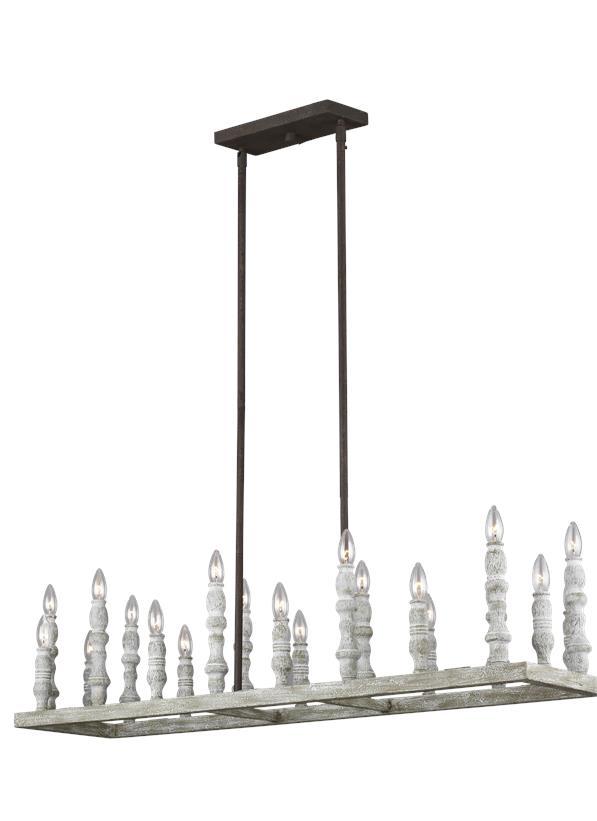 20-Light Linear Chandelier