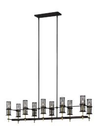 10 - Light Linear Chandelier