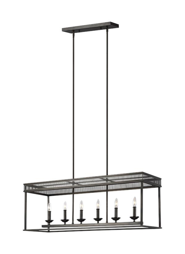 6 - Light Linear Chandelier