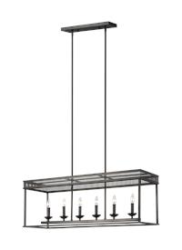 6 - Light Linear Chandelier