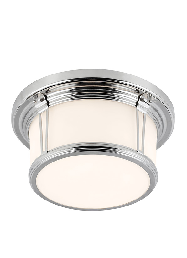 2 - Light Woodward Flushmount