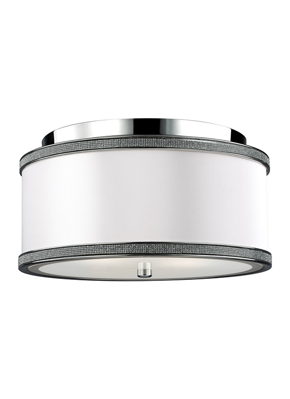2 - Light Crystal Inlay Flush Polished Nickel