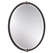 Black Antique Silver Mirror