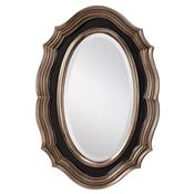 Antique Silver Leaf Black Mirror