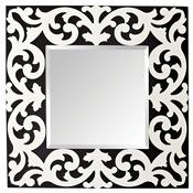 Black White Matte Mirror