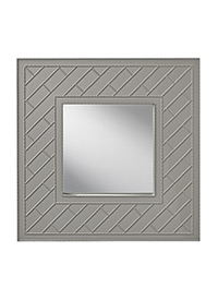 Hi Gloss Grey - Trellis Mirror