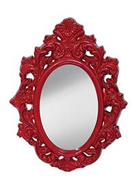 Crimson Lacquer-Mirror