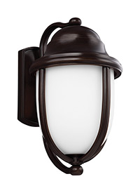 1 - Light Outdoor Wall Heritage Bronze