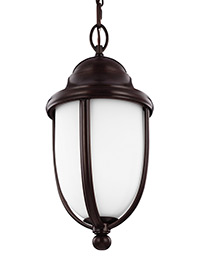 1 - Light Outdoor Hanging Heritage Bronze