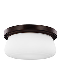 2 - Light Outdoor Flush Heritage Bronze