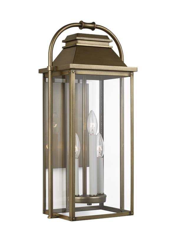 3 - Light Outdoor Wall Lantern