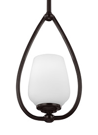 1 - Light Mini-Pendant Heritage Bronze