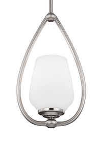1 - Light Mini-Pendant Satin Nickel