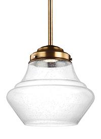 1L Alcott LED Pendant Aged Brass