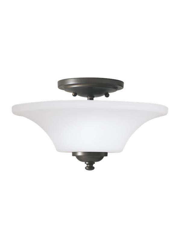 2 - Light Indoor Semi-Flush Mount