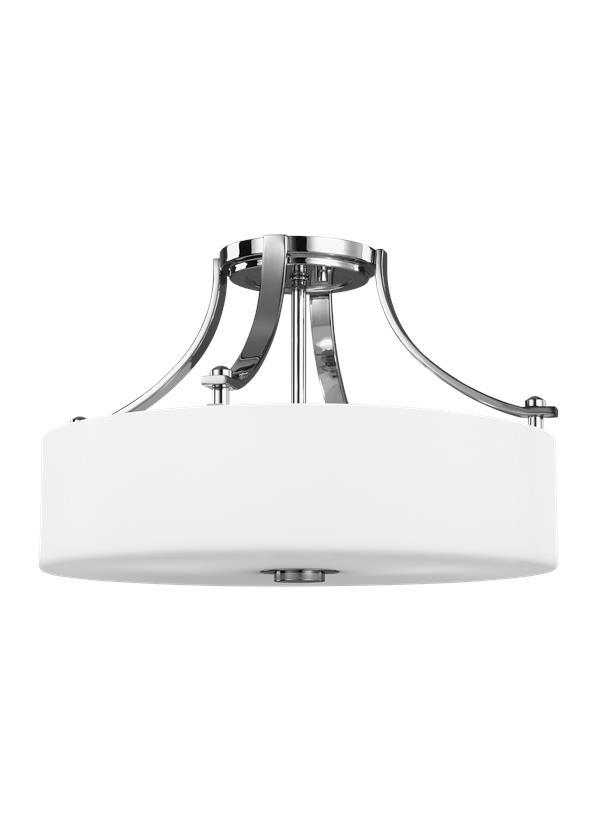 3 - Light Semi-Flush Mount