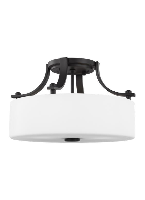 2 - Light Semi-Flush Mount