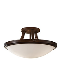 2 - Light Indoor Semi-Flush Mount