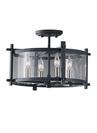 4 - Light Indoor Semi-Flush Mount