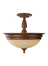 3 - Light Semi-Flush Mount
