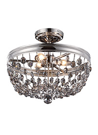 3 - Light Malia Semi Flush Mount