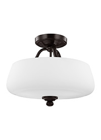 3 - Light Semi-Flush Heritage Bronze