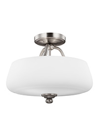 3 - Light Semi-Flush Satin Nickel