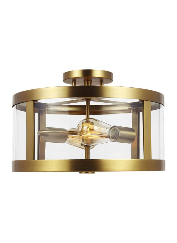 2 - Light Semi Flush Mount