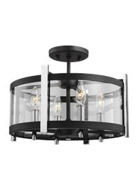 4 - Light Semi Flush Mount