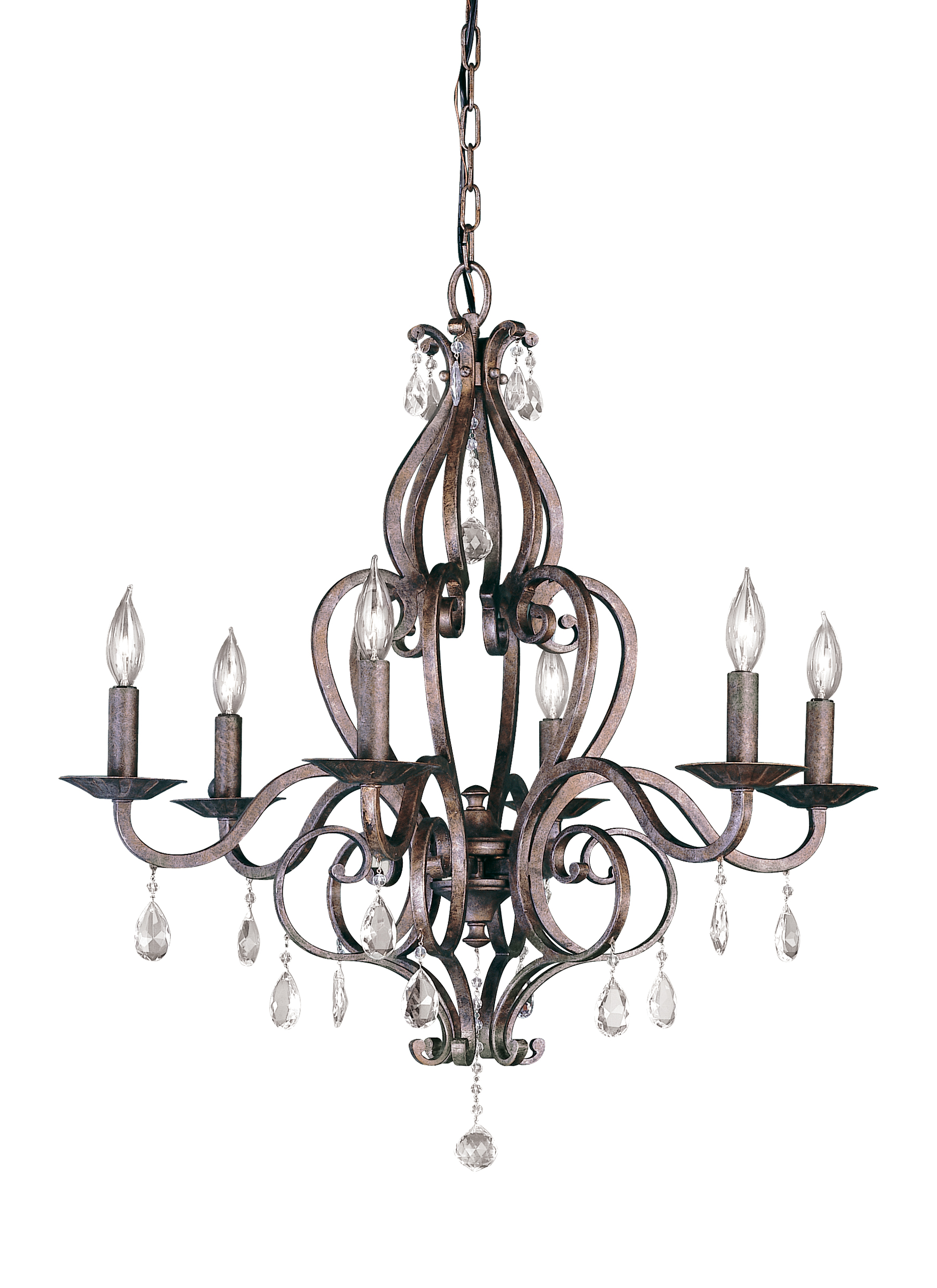 F17986pbr6 light single tier chandelierperuvian bronze loading zoom arubaitofo Images