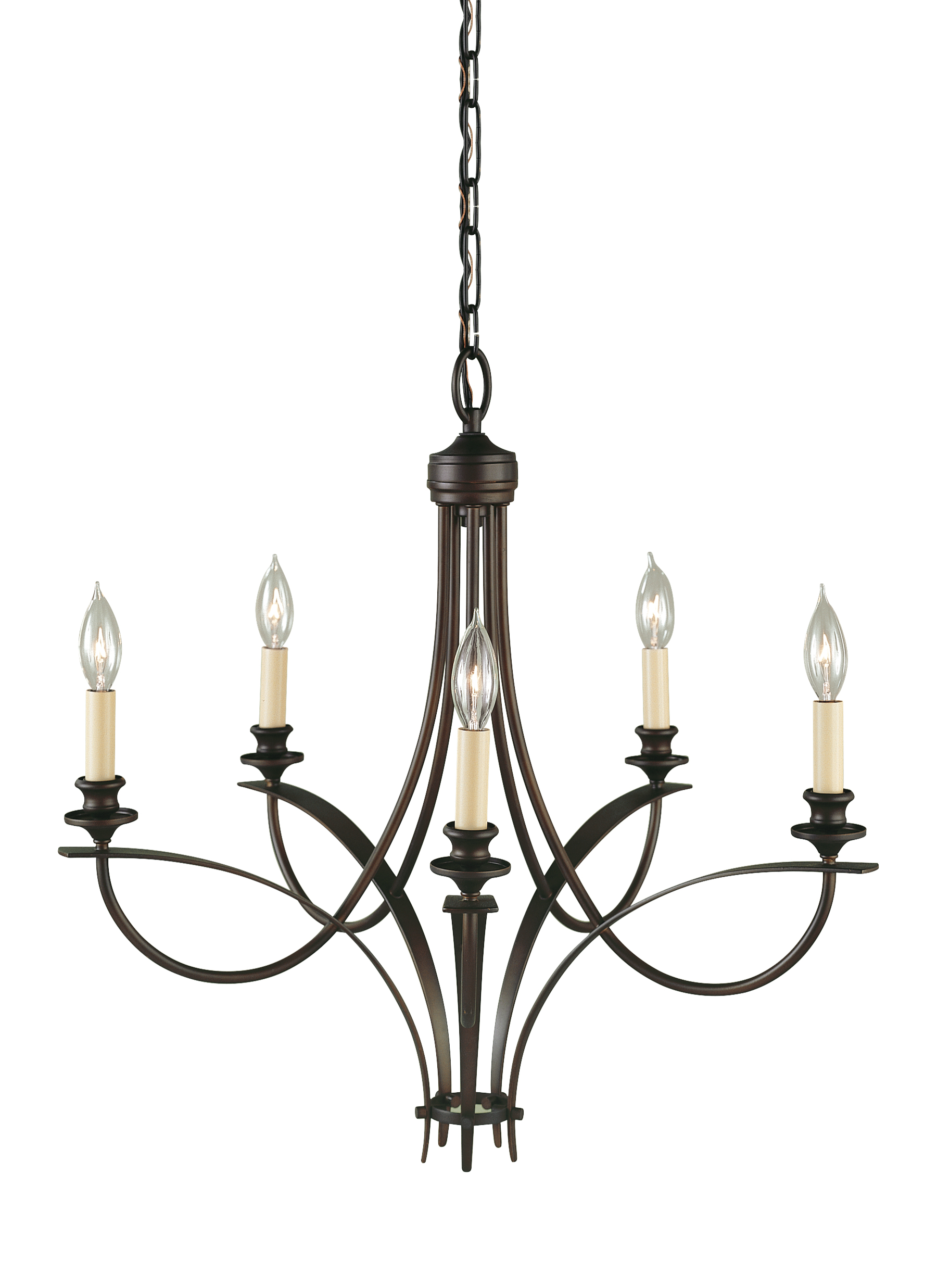 F1888 5ORB 5 Light Single Tier Chandelier Oil Rubbed Bronze
