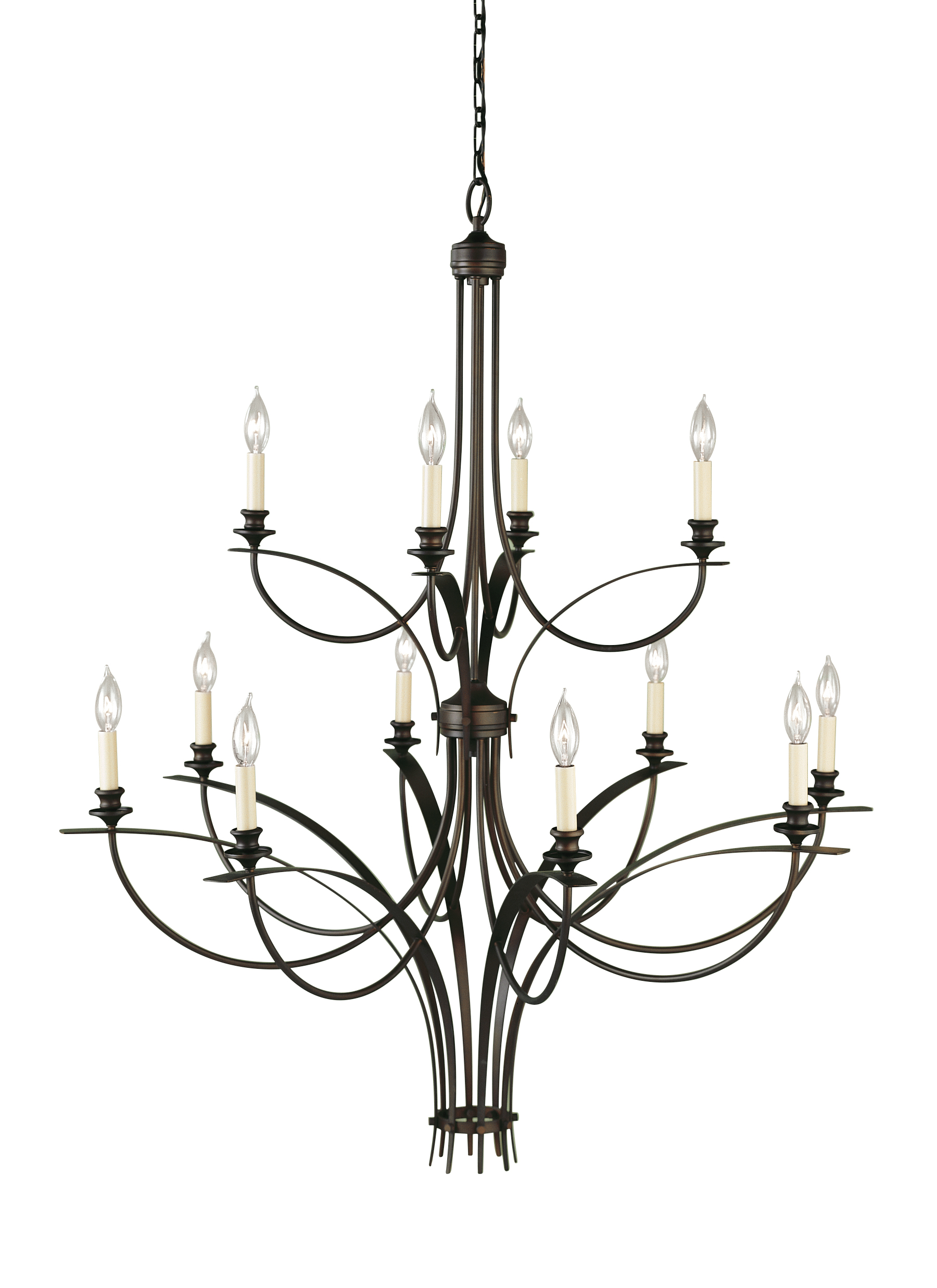 F1891 8 4ORB 12 Light Multi Tier Chandelier Oil Rubbed Bronze