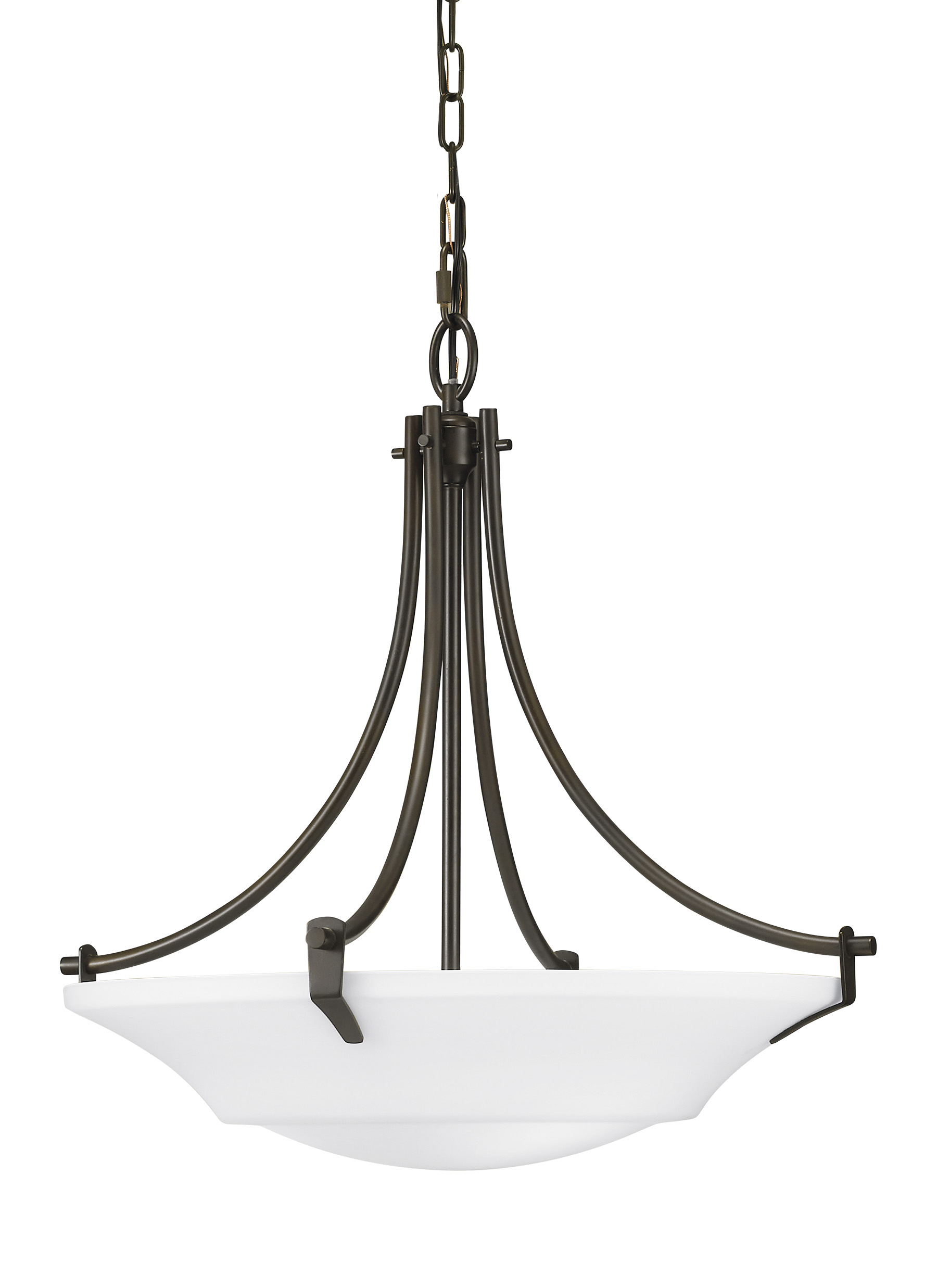 F2245 3ORB 3 Light Uplight Chandelier Oil Rubbed Bronze