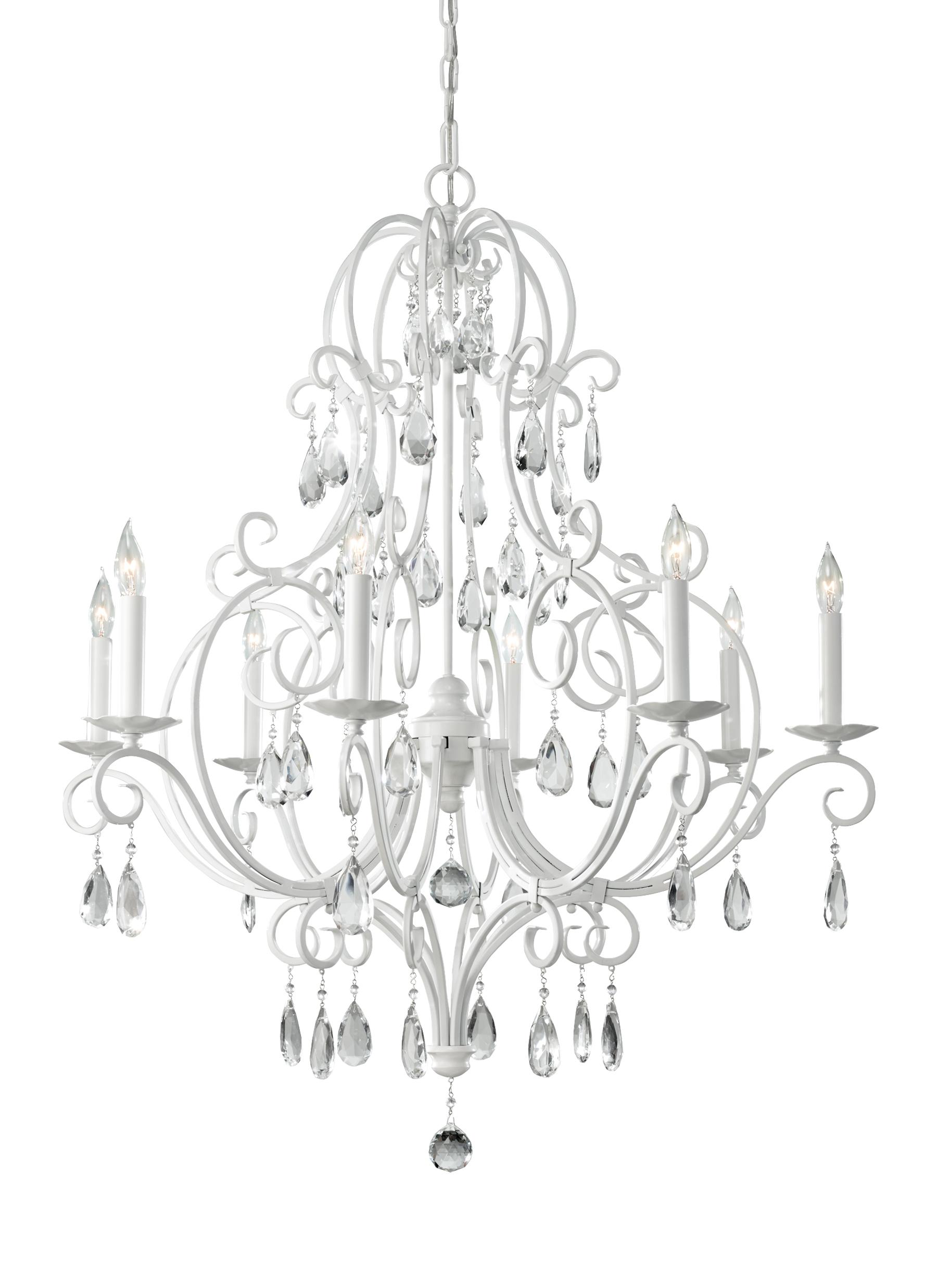 F23038sgw8 light single tier chandelier semi gloss white loading zoom arubaitofo Choice Image